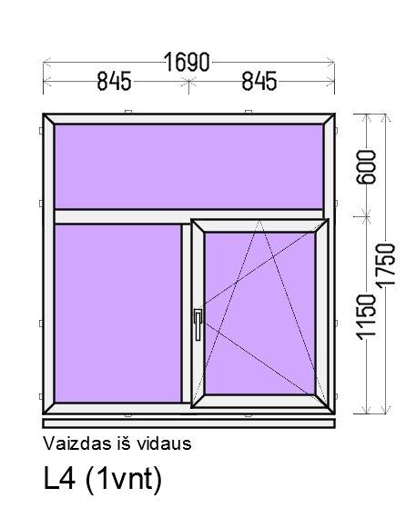 Prekė: Varstomi 2-jų dalių plastikiniai langai, Būklė: Naujas, Kaina: 163 Eur