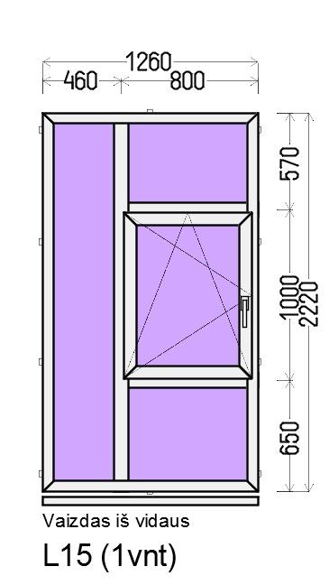 Prekė: Varstomi 2-jų dalių plastikiniai langai, Būklė: Naujas, Kaina: 268 Eur