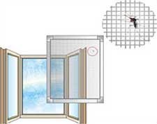 Frame type mosquito nets